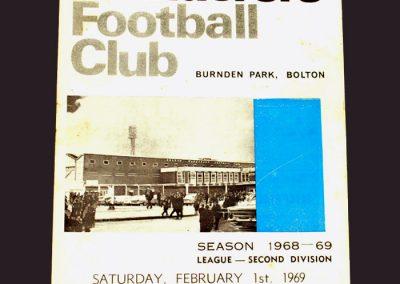 Bolton v Middlesbrough 01.02.1969