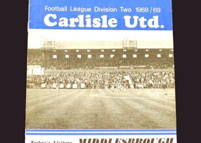 Carlisle v Middlesbrough 15.03.1969
