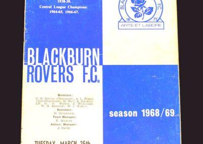Blackburn v Middlesbrough 25.03.1969