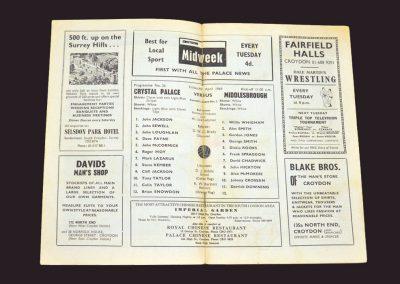 Crystal Palace v Middlesbrough 04.04.1969