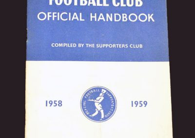 Reading 1958/59 Season Supporters Handbook