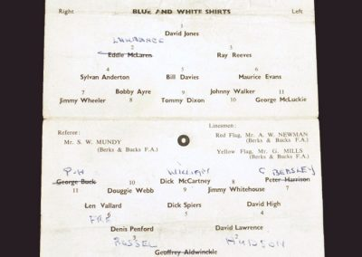 Reading Public Practice Match 16.08.1958