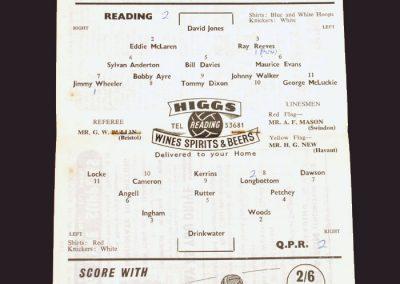 Reading v QPR 23.08.1958