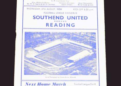 Southend v Reading 27.08.1958
