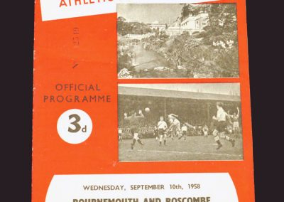 Bournemouth and Boscombe v Reading 10.09.1958