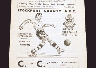 Stockport v Reading 27.09.1958