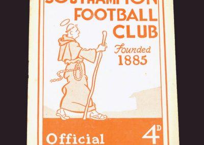 Southampton v Reading 04.10.1958