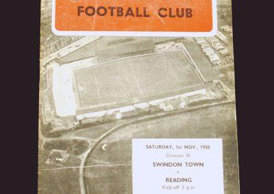 Swindon v Reading 01.11.1958
