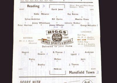 Reading v Mansfield 08.11.1958