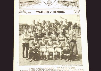 Watford v Reading 15.11.1958 - FA Cup 1st Round