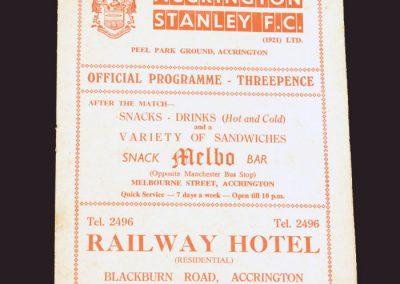 Accrington Stanley v Reading 13.12.1958