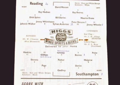 Reading v Southampton 21.02.1959