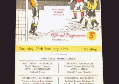 Bradford City v Reading 28.02.1959