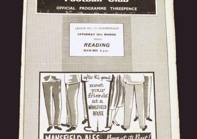 Mansfield v Reading 28.03.1959