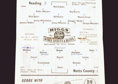 Reading v Notts County 04.04.1959