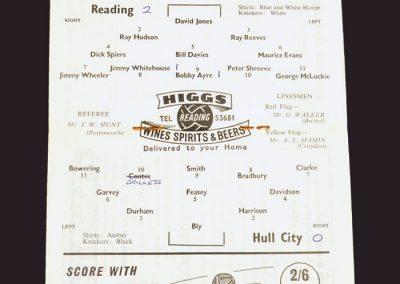Reading v Hull 15.04.1959