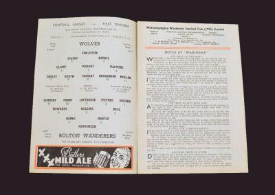 Wolves v Bolton 28.08.1957