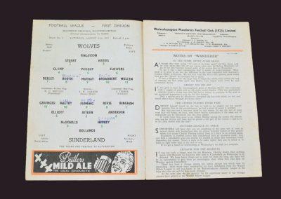 Wolves v Sunderland 31.08.1957
