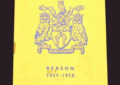 Leeds v Wolves 05.10.1957
