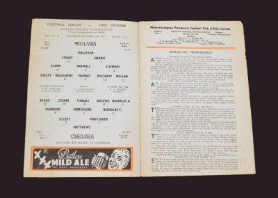 Wolves v Chelsea 19.10.1957