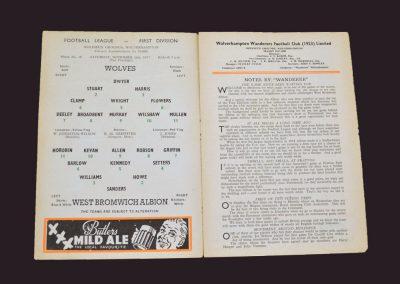 Wolves v West Brom 16.11.1957