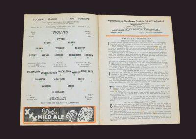 Wolves v Burnley 30.11.1967