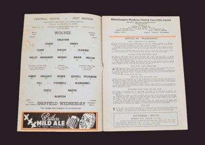 Wolves v Sheff Wed 14.12.1957