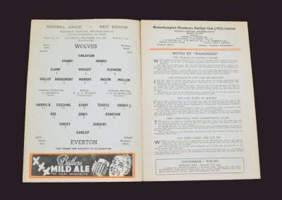Wolves v Everton 21.12.1957