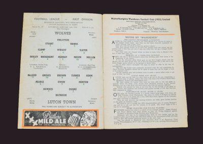 Wolves v Luton 11.01.1957