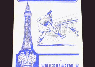 Blackpool v Wolves 18.01.1957