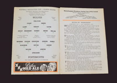 Wolves v Portsmouth 25.01.1957 - FA Cup 4th Round