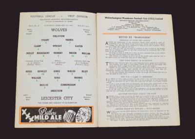 Wolves v Leicester 01.02.1958
