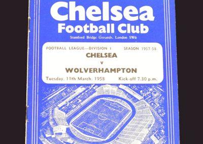 Chelsea v Wolves 11.03.1958