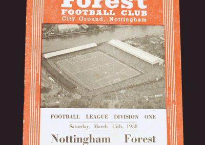 Notts Forest v Wolves 15.03.1958