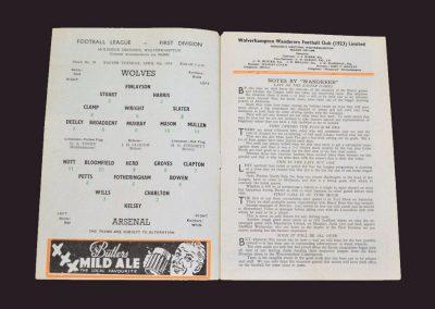 Wolves v Arsenal 08.04.1958
