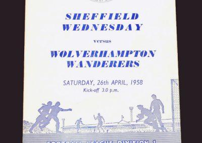 Sheff Wed v Wolves 26.04.1958