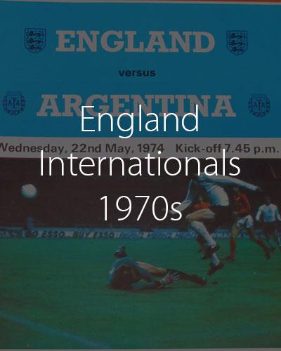 England Internationals 1970s
